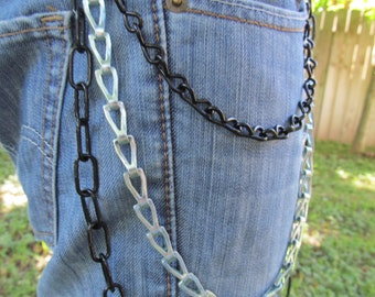 Jean Jewelry Jean Chains Black and Silver J 9