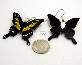 Elegant Yellow Butterfly Earrings