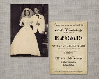 "Wedding Anniversary Invitations, 5x7, Anniversary Invitations, the ""Ann"""