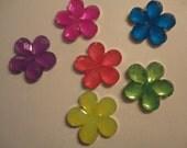 Kawaii flower acrylic stone charm cabochons   decoden deco diy  6 pcsーーーUSA seller