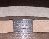 Leather Custom Tag Collar for Greyhounds - Fawn