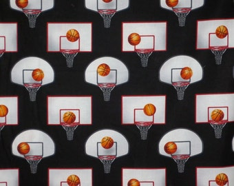 Basketball Net Print Pure Cotton Fabric--One Yard