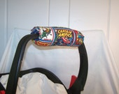 Reversible Car Seat ARM PAD Handle Cover -- Marvel Comic Book Hero and Dots