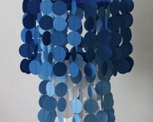 Custom paper chandelier or mobile.  Beautiful for weddings, nurseries, or party decorations.