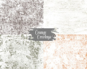 Grunge Texture Overlays - High Res 300 dpi Commercial Use - Set 1