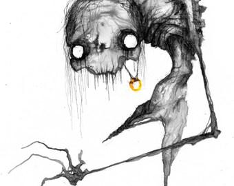 Gollum - Matte Print