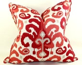 Duralee Ikat Pillow Cover, Duralee Rasul in Berry, Cushion Cover, Toss Pillow