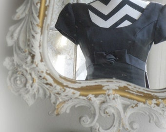 H O L L Y W O O D  White Mirror Ornate Regency Chic French Cottage Nursery