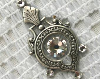 Affordable Crystal Bindi in Oxidized Silver