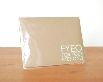 aerogram fold and mail kraft envelope notebook: fyeo for your eyes only