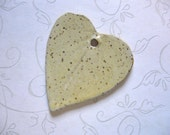 Speckled Creamy Yellow Ceramic Leaf Pendant