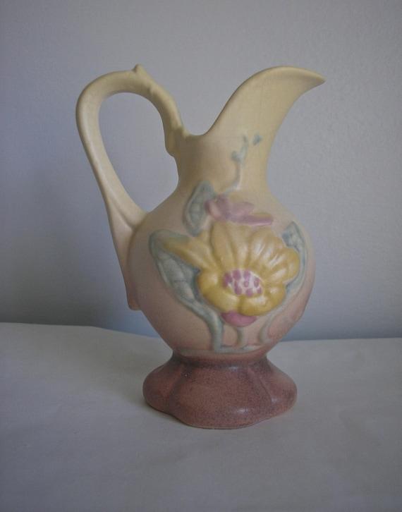 Vintage 1940s Hull Magnolia Ceramic Art Vase Pitcher