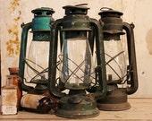 SALE Rusty Vintage Industrial Indian Made Oil Lamp Lantern Light