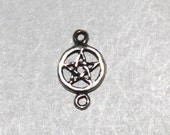 Set of 3 Sterling Silver Petite Pentacle / Pentagram Links Wiccan Jewelry Components TZPSM