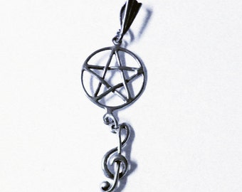 Pagan Music Celebration Pendant in Sterling Silver 814MUS