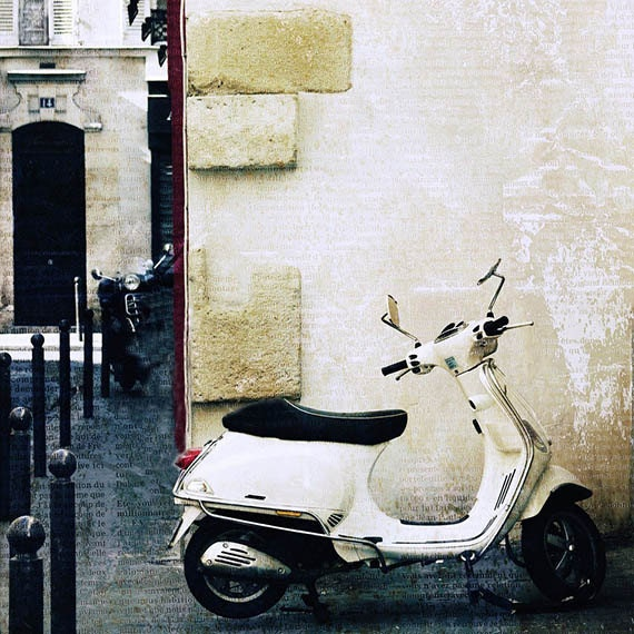 Paris Photography, Paris Decor, Paris Vespa,  Paris Art, Wall Art, fine art photography print
