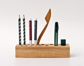 Office Organizer Pen Holder Pencil Holder Wooden Desk Organizer JACOB