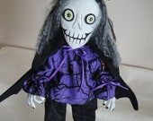 Skeleton Day of the Dead Gothic Cloth Doll Primitive Handmade