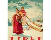 TIBET 1- Handmade Leather Postcard / Note Card / Fridge Magnet - Travel Art