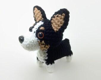 Pembroke Welsh Corgi Tri Color Crochet Dog Handmade Amigurumi Dog Stuffed Animal / Made to Order