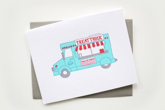 Letterpress Card - Food Truck