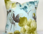 Linen Robins Egg Blue Decorative Pillow 18 inch Accent Pillow Throw Pillow Cushion Cover