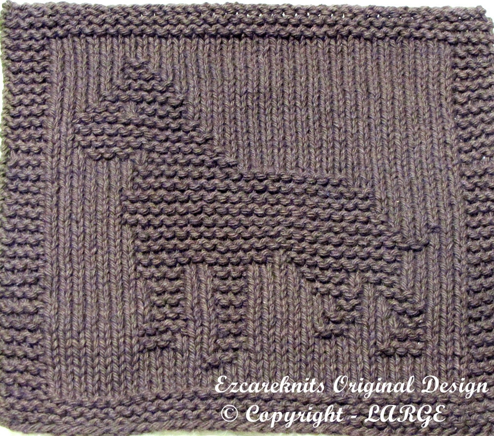 Knitted Tablecloth Patterns : Knitting Cloth Pattern PITBULL PDF by ezcareknits on Etsy