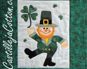Irish Wall Hanging, 4566-4, march wall quilt, st patrick's day wall quilt,