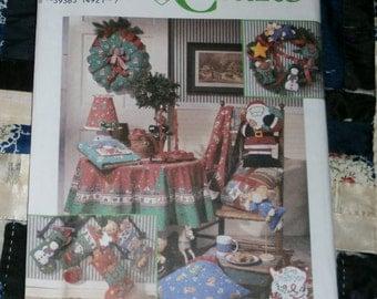 Cute 1994 Simplicity Craft Pattern 8806, Cute Christmas Items Uncut, Factory Folds