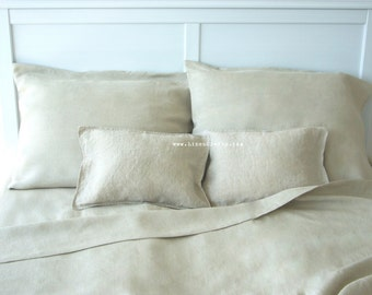 Linen pillowcase set -Nature- pillow sham, linen bedding,bespoke linens, luxury Belgian linen, Eco linen, custom made linens,