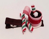 Hot Chocolate Ribbon Sculpture Hair Clip