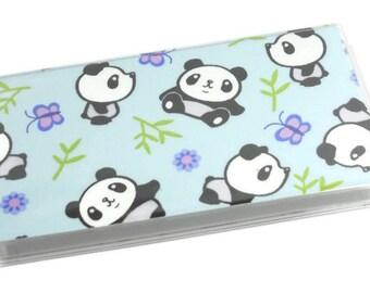 SALE Checkbook Cover Pandas