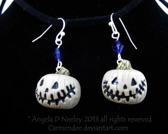 Jack'O Lantern Halloween Earrings