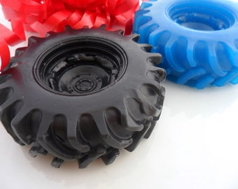 25 TIRE SOAP FAVORS - Truck Party Favor, Truck Birthday Party - Car Baby Shower - Monster Truck Party, Racing Party
