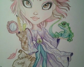 Artists Exposed For Vicki Diane Inspirational Art Print She Was On A Journey