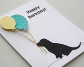 Dog Birthday Card - Labrador puppy card, happy barkday