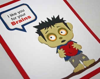 Zombie Valentine card - Zombie love,  Valentine's day card, Zombie boy