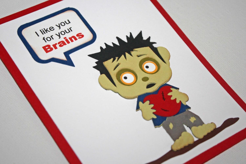 Zombie Valentine card Zombie love Valentines day