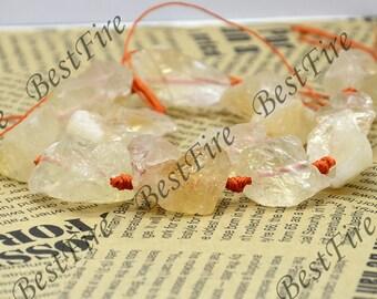 Nugget  Natural Citrine Crystal Quartz Gemstone Beads ,gemstone beads loose strand