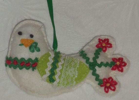 Dove of Peace Felt Christmas Ornament