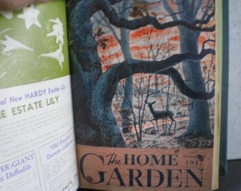 Vintage 1940's Home & Garden Magazines - Hard Cover Bound