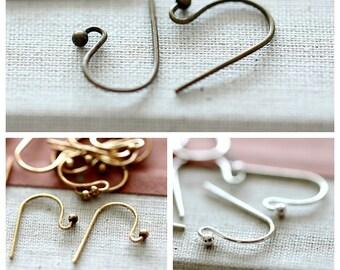 Antique Bronze/ Silver /Gold  Earring Finding Ear Wire Hook NICKEL FREE (EAR-78.79.80)