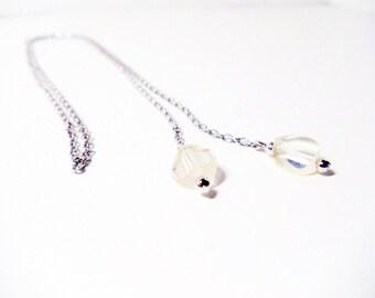 Bolero Necklace- 1976 Necklace- Avon Crystalique- Lariat Necklace- Tassel Necklace- Crystal Necklace- Original Box-  Vintage Avon