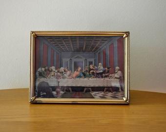 Vintage Last Supper 3D Framed Picture
