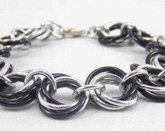 Black & Silver Vortex Bracelet