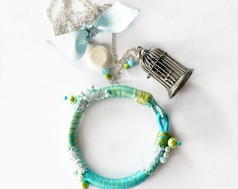 wrap bracelet - birdcage necklace