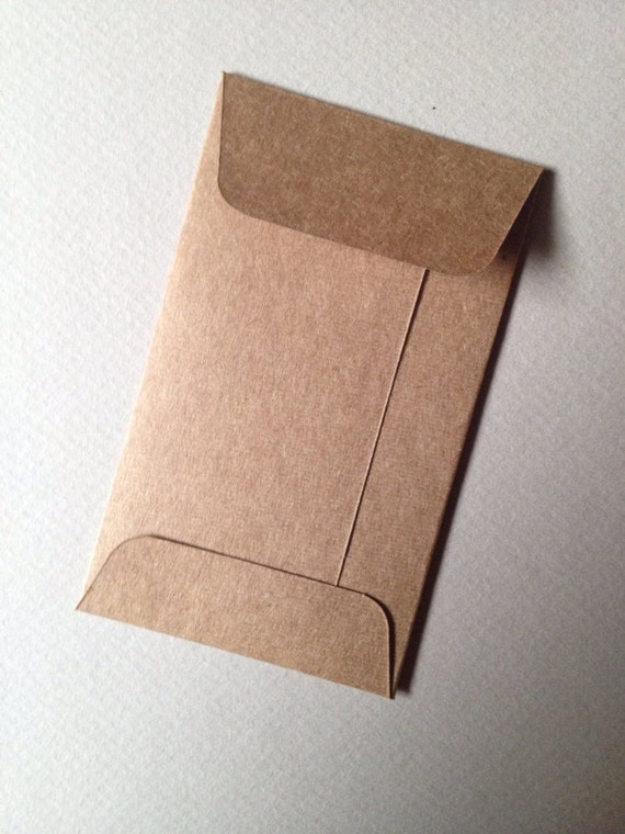 100 kraft mini envelopes recycled size 2 18 x 3 12 coin 100 kraft mini envelopes recycled size 2 18 x 3 12 coin envelopes business card envelopes heavyweight brown kraft from paperetteshoppe on etsy reheart Images