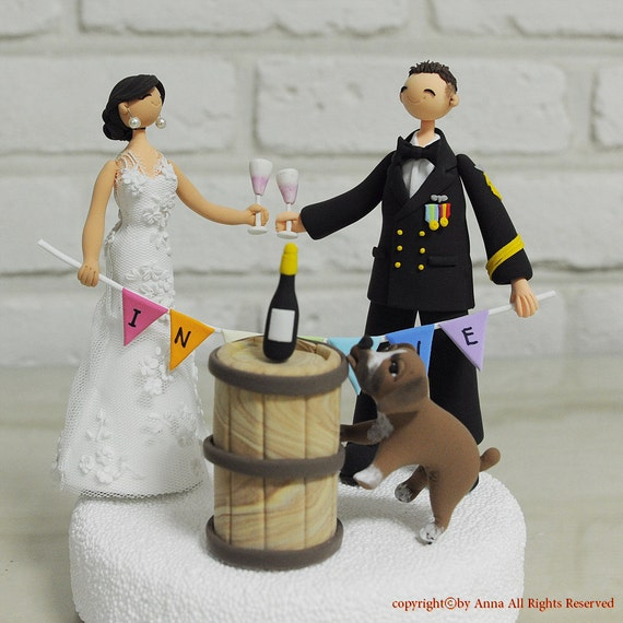 Winery, wine yard outdoor wedding cake topper decoration gift