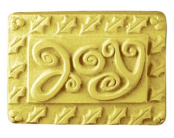 Joy Holiday Soap, Christmas Soap, Novelty Soap, You pick scent & color