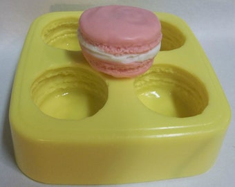 French Macaron Soap & Candle Mold- 4 cavities